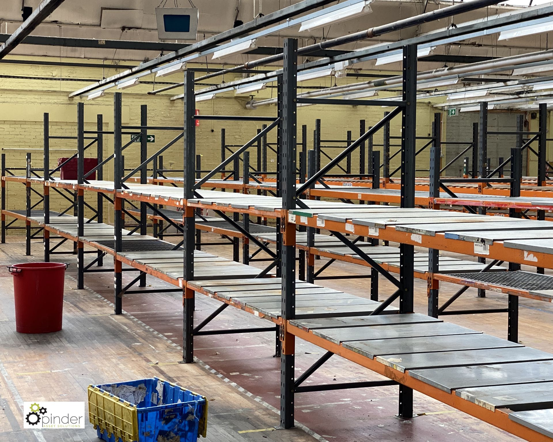 11 bays Dexion Speedlock boltless Racking, comprising 9 uprights 2440mm x 910mm, 3 uprights 1835mm x - Image 5 of 5