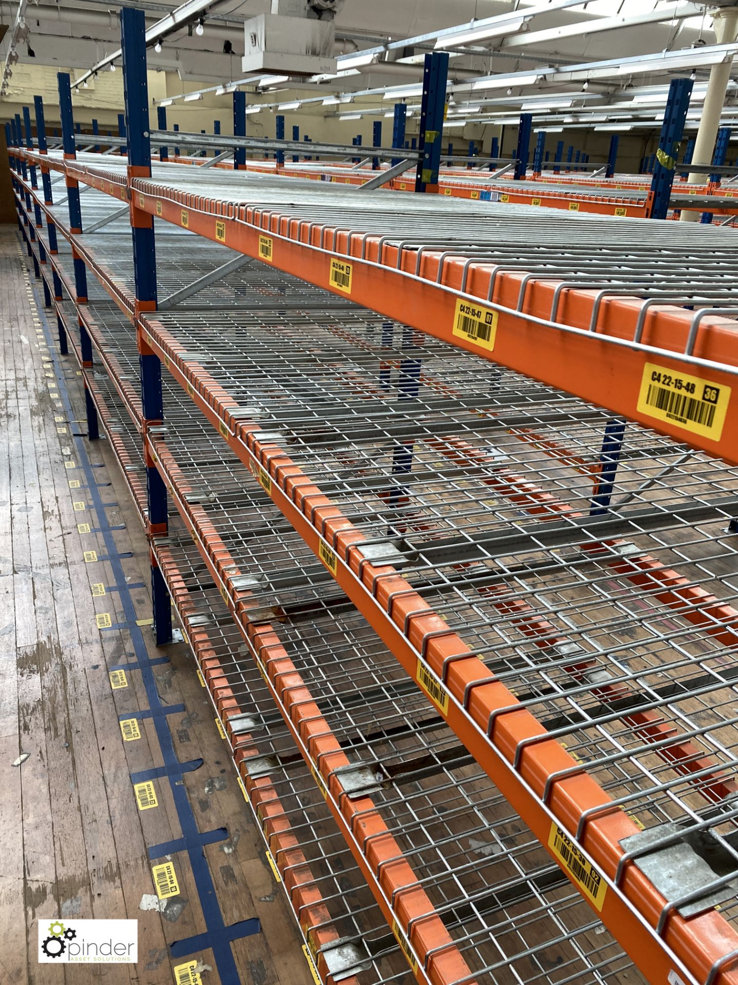 8 bays PSS 2K85 16 boltless Stock Racking, comprising 9 uprights 2400mm x 1200mm, 64 beams 2700mm, - Image 2 of 4