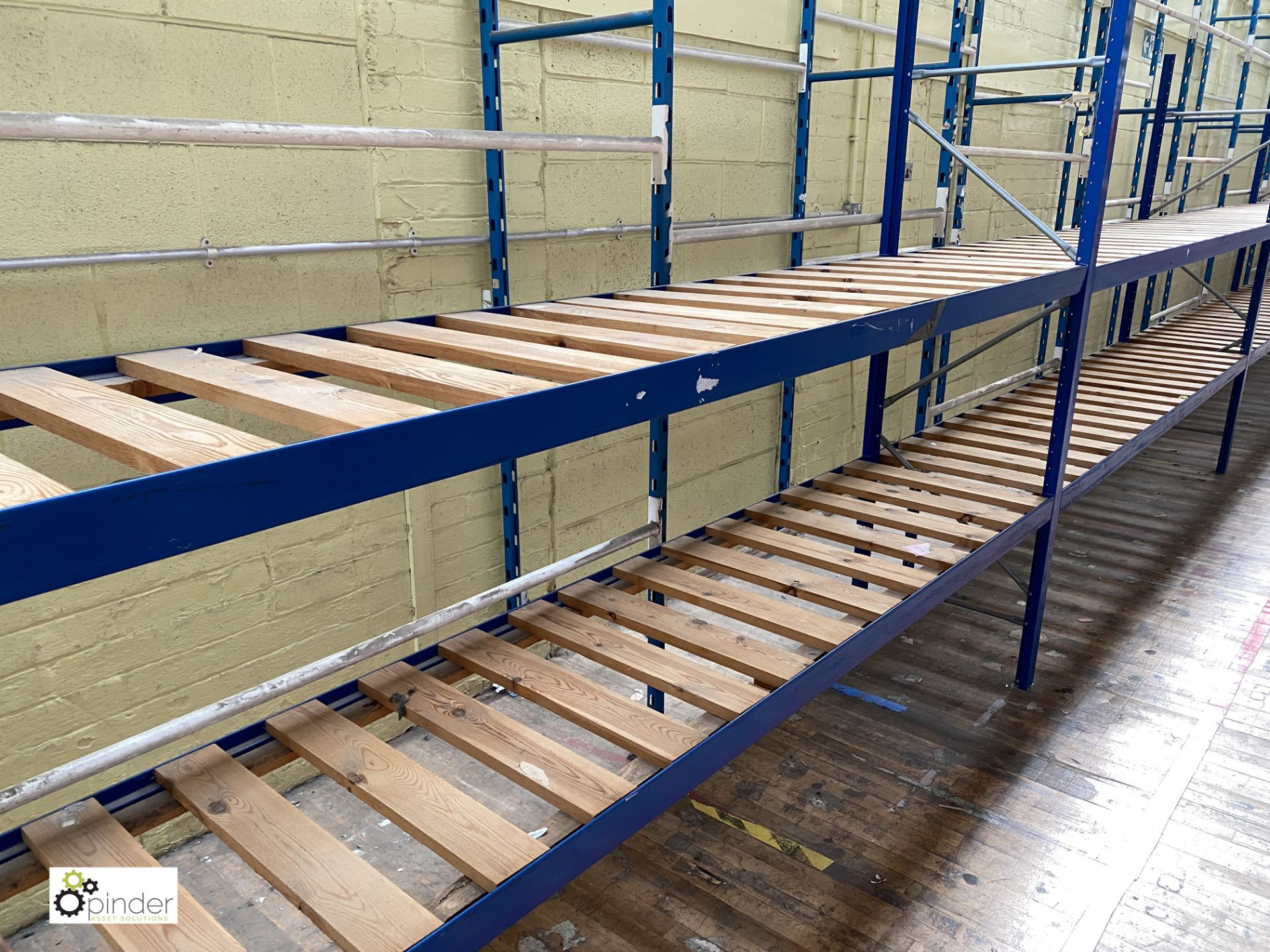 7 bays boltless Racking comprising 9 uprights 2100mm x 620mm, 28 beams 2935mm, 14 timber steel - Image 3 of 5