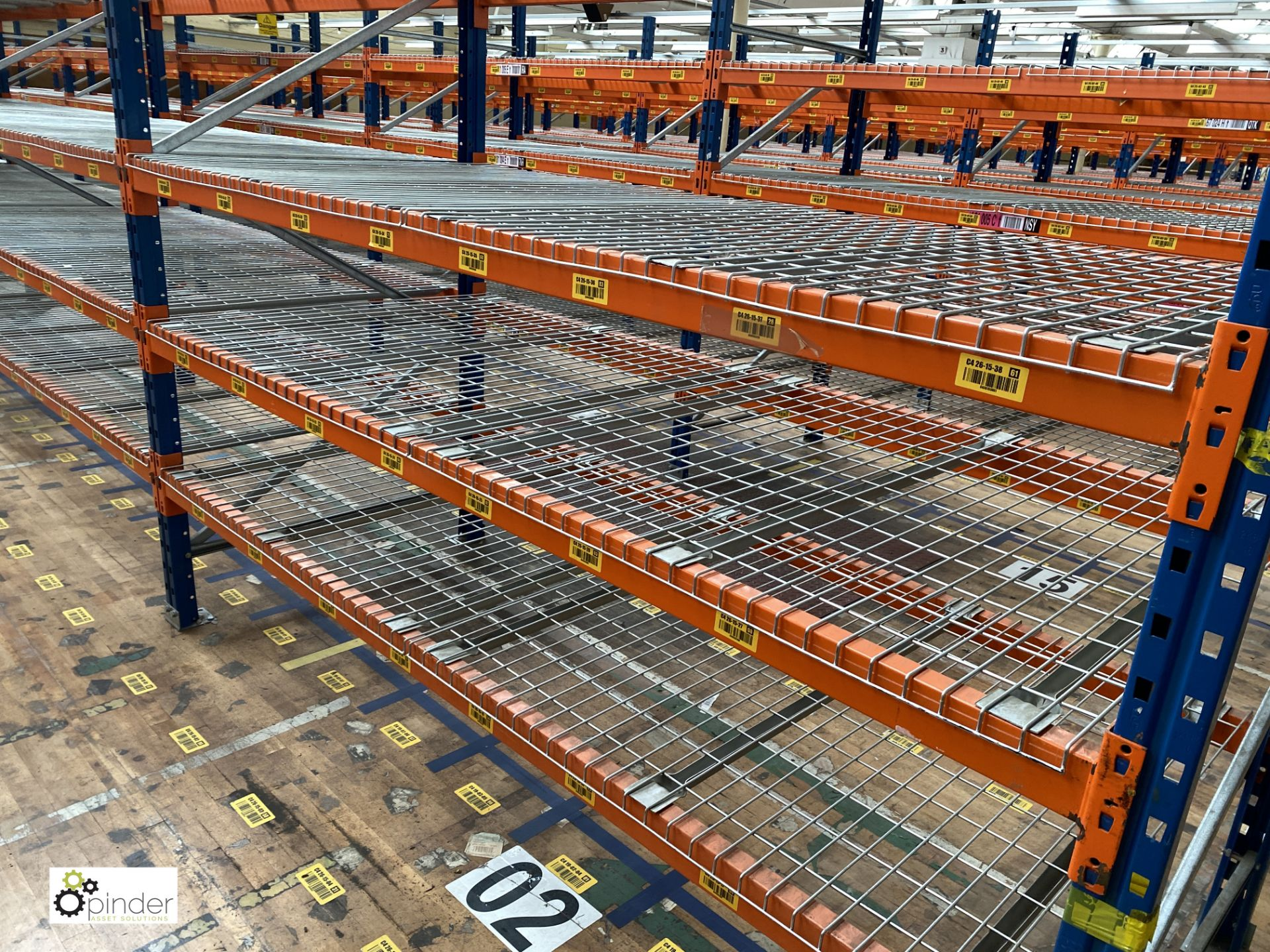 7 bays PSS 2K85 16 boltless Stock Racking, comprising 8 uprights 2400mm x 1200mm, 56 beams 2700mm, - Image 3 of 3