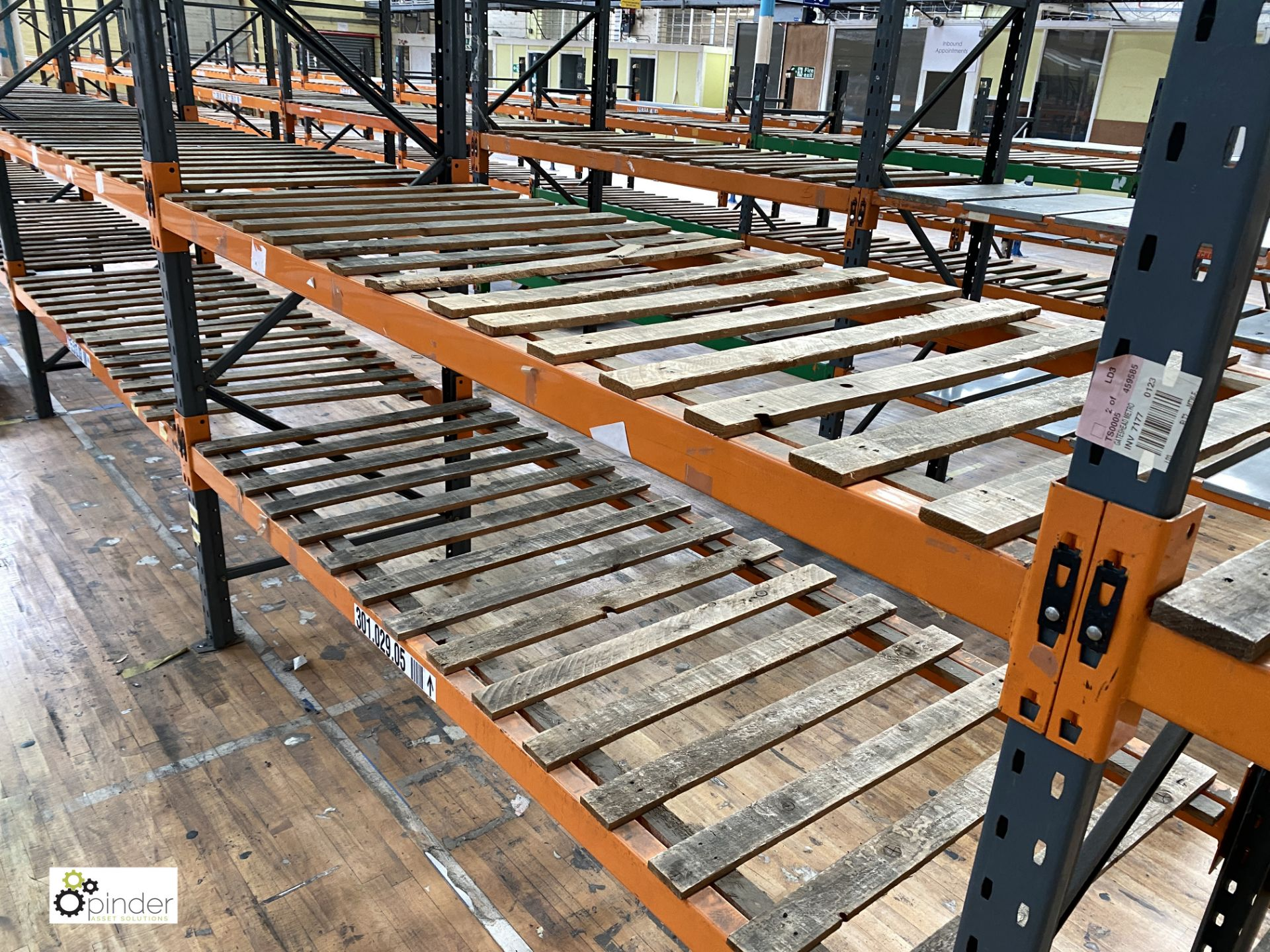 12 bays Dexion Speedlock boltless Racking, comprising 12 uprights 2440mm x 910mm, 1 upright 1835mm x - Image 5 of 5