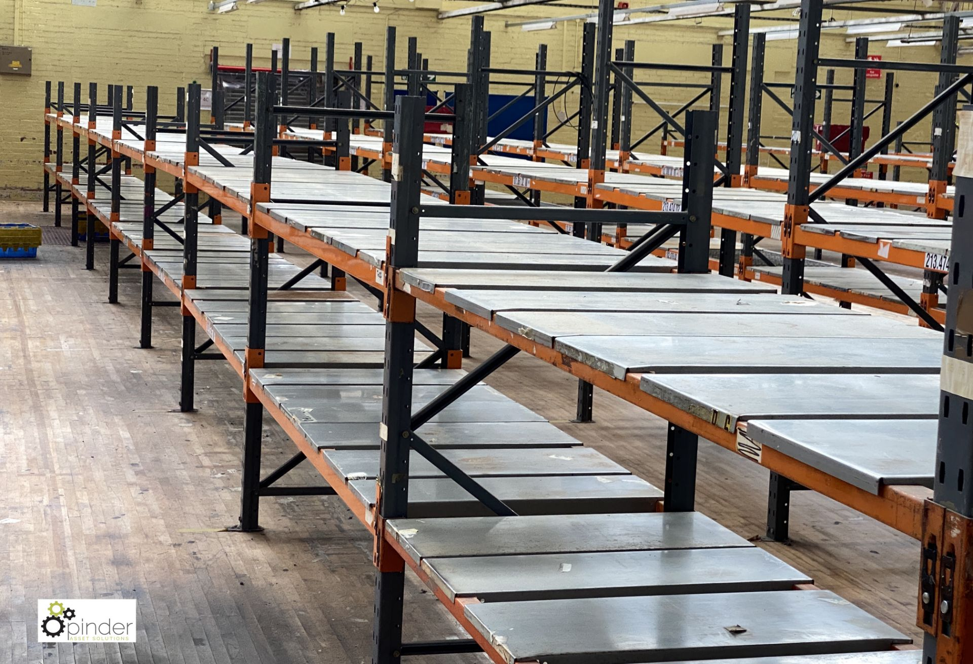 10 bays Dexion Speedlock boltless Racking, comprising 11 uprights 1835mm x 910mm, 40 beams 2450mm, - Image 4 of 5