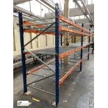 3 bays PSS 2K85 16 boltless Stock Racking, comprising 4 uprights 2400mm x 1200mm, 24 beams 2700mm,