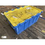 Approx. 64 Buckhorn stackable plastic Storage Containers, 640mm x 380mm x 300mm, with interlocking