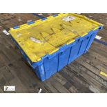 Approx. 55 Buckhorn stackable plastic Storage Containers, 640mm x 380mm x 300mm, with interlocking