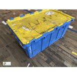 Approx. 58 Buckhorn stackable plastic Storage Containers, 640mm x 380mm x 300mm, with interlocking