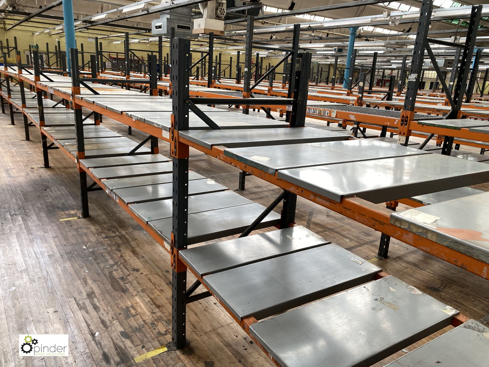 10 bays Dexion Speedlock boltless Racking, comprising 4 uprights 2440mm x 910mm, 7 uprights 1835mm x - Image 2 of 3