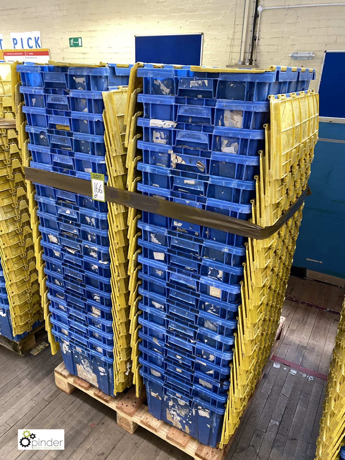 Approx. 54 Buckhorn stackable plastic Storage Containers, 640mm x 380mm x 300mm, with interlocking - Image 3 of 4