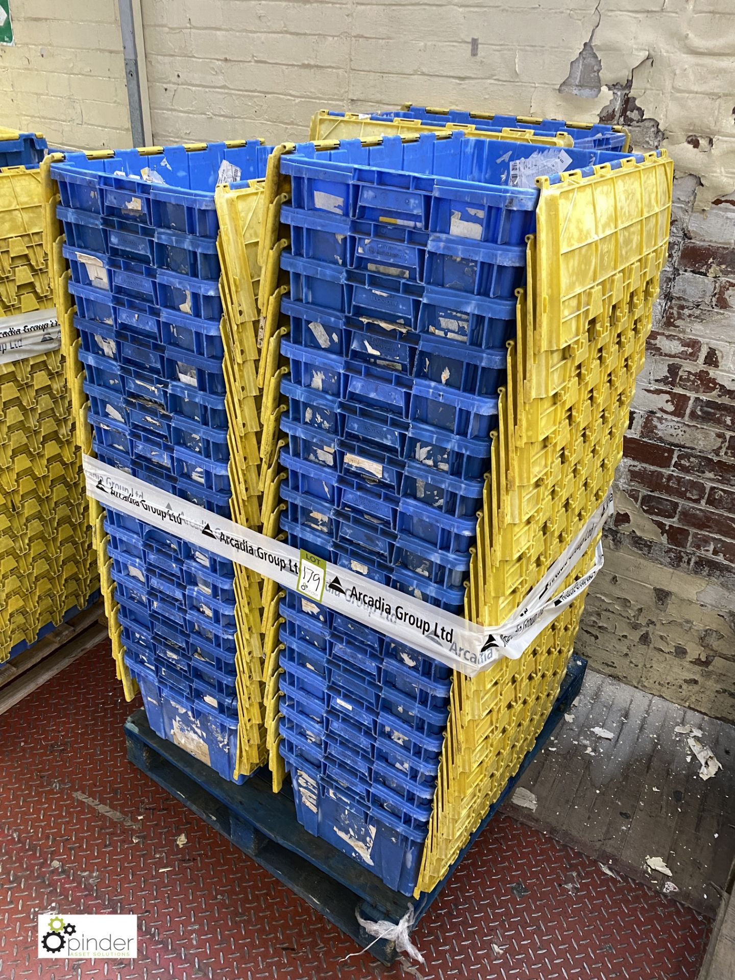 Approx. 55 Buckhorn stackable plastic Storage Containers, 640mm x 380mm x 300mm, with interlocking - Image 3 of 4