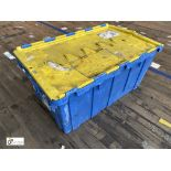 Approx. 28 Buckhorn stackable plastic Storage Containers, 640mm x 380mm x 300mm, with interlocking