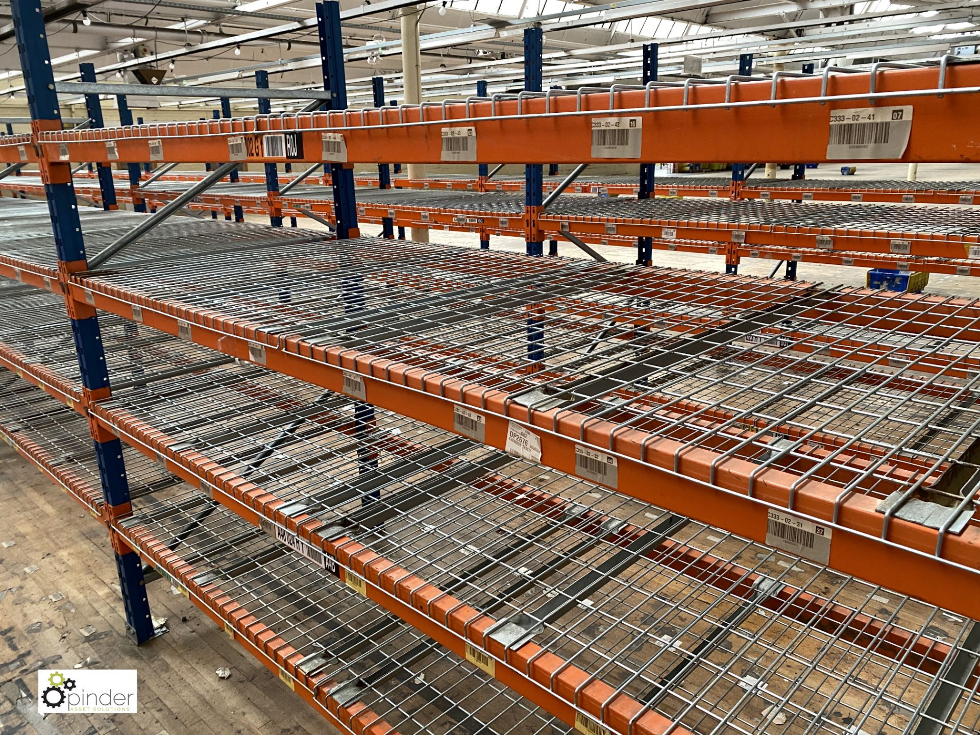 8 bays PSS 2K85 16 boltless Stock Racking, comprising 9 uprights 2400mm x 1200mm, 64 beams 2700mm, - Image 3 of 4