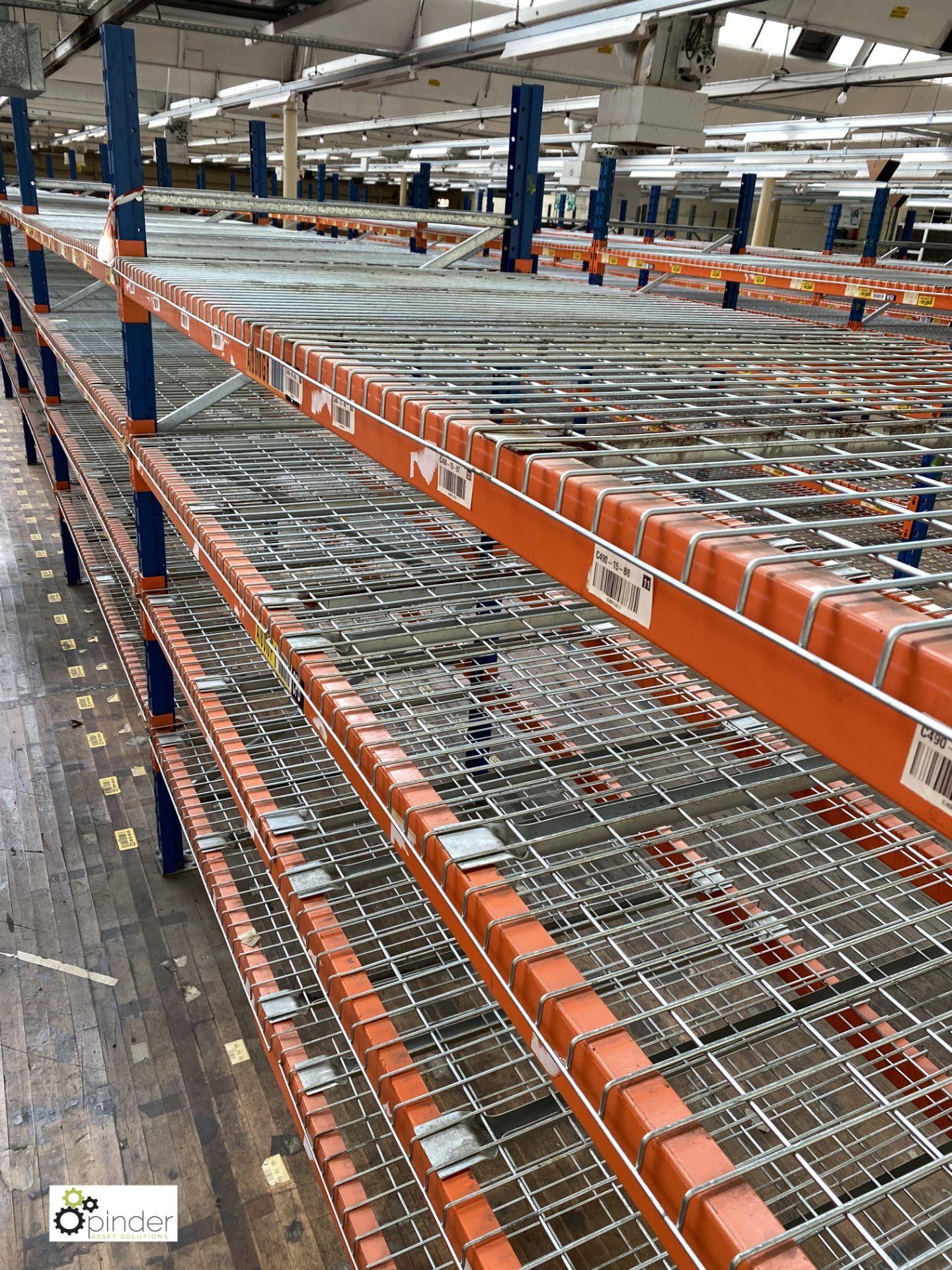 8 bays PSS 2K85 16 boltless Stock Racking, comprising 9 uprights 2400mm x 1200mm, 64 beams 2700mm, - Image 2 of 3