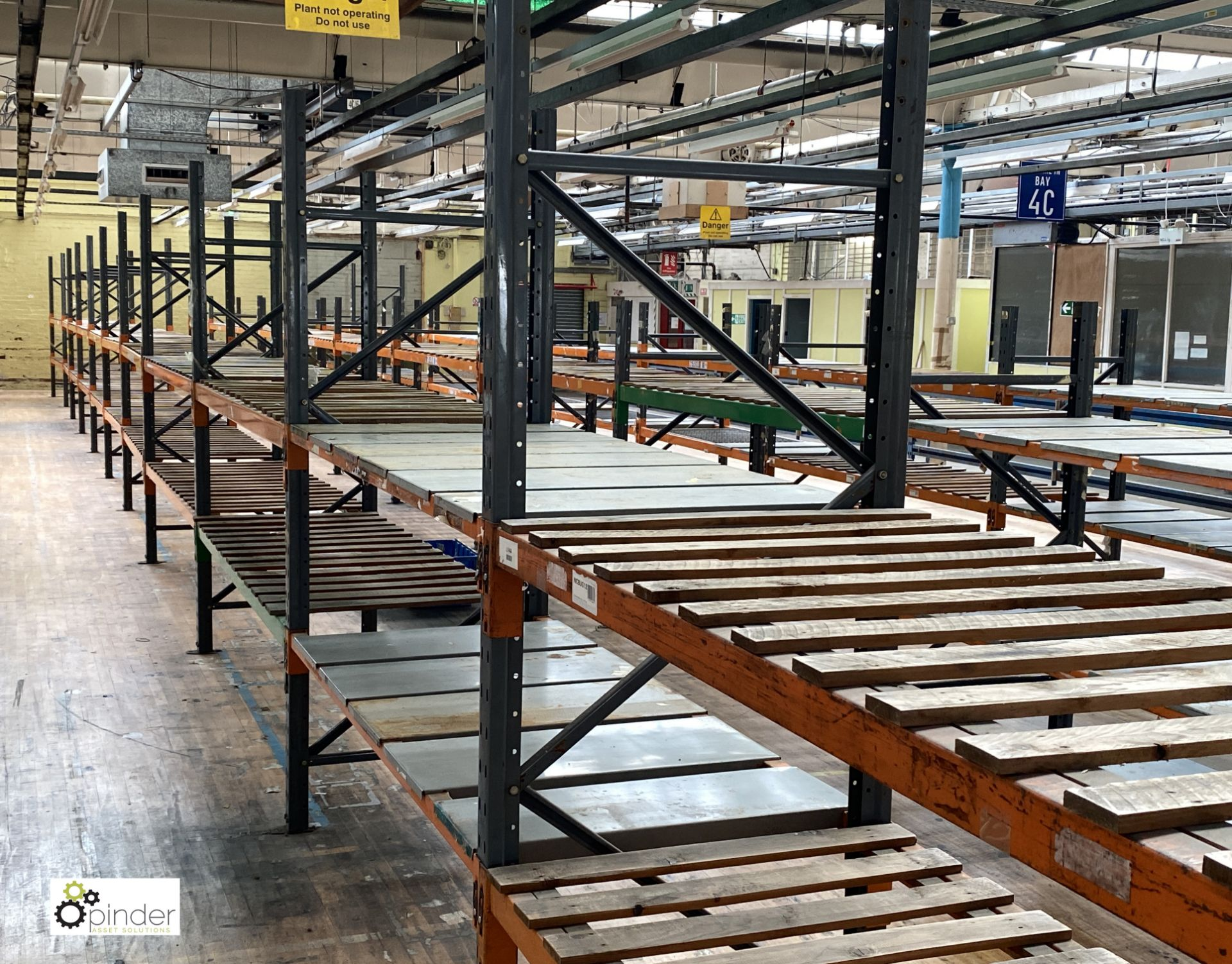 12 bays Dexion Speedlock boltless Racking, comprising 12 uprights 2440mm x 910mm, 1 upright 1835mm x - Image 3 of 5