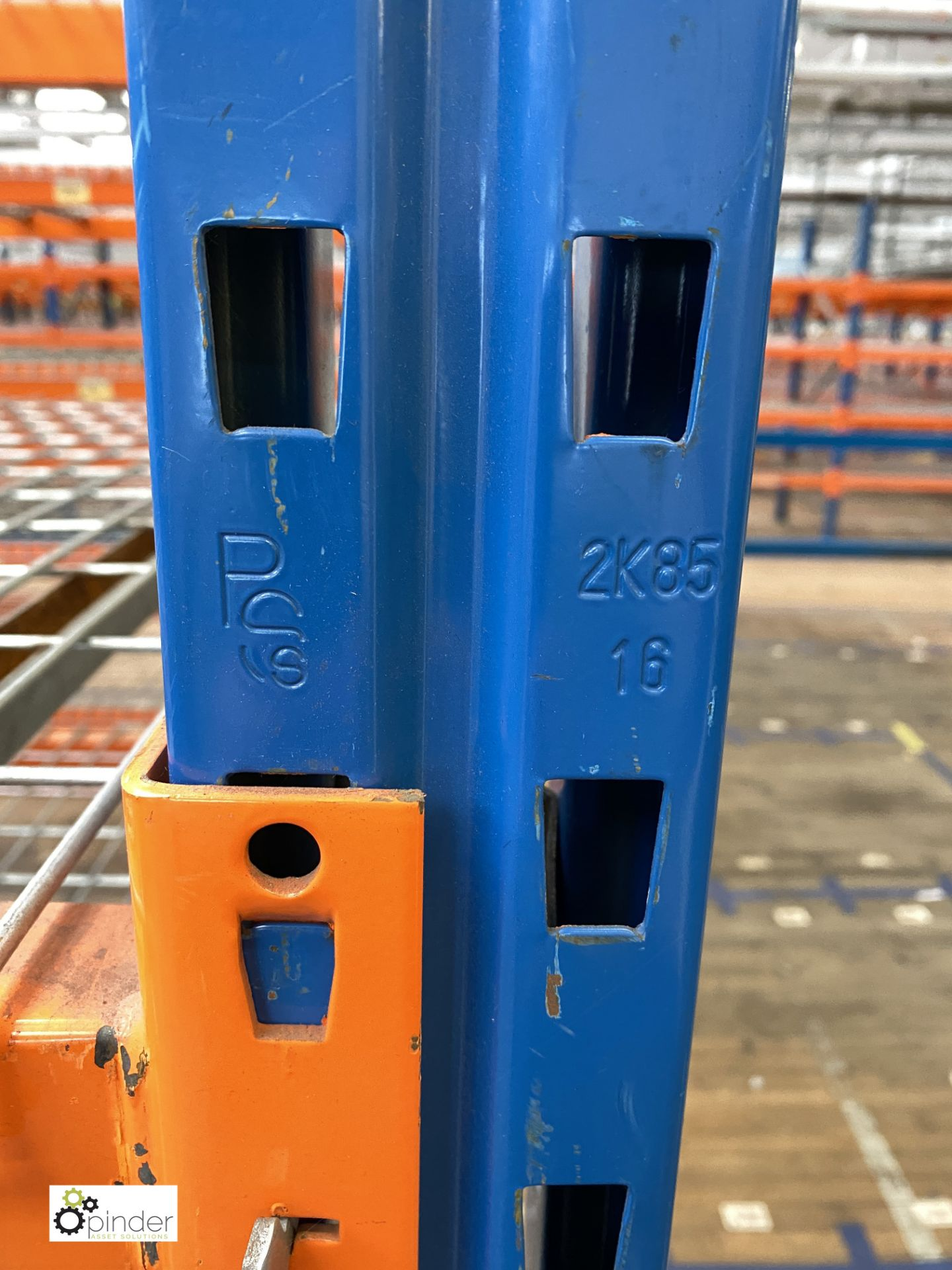 4 bays PSS 2K85 16 boltless Stock Racking, comprising 5 uprights 2400mm x 1200mm, 32 beams 2700mm, - Image 4 of 4