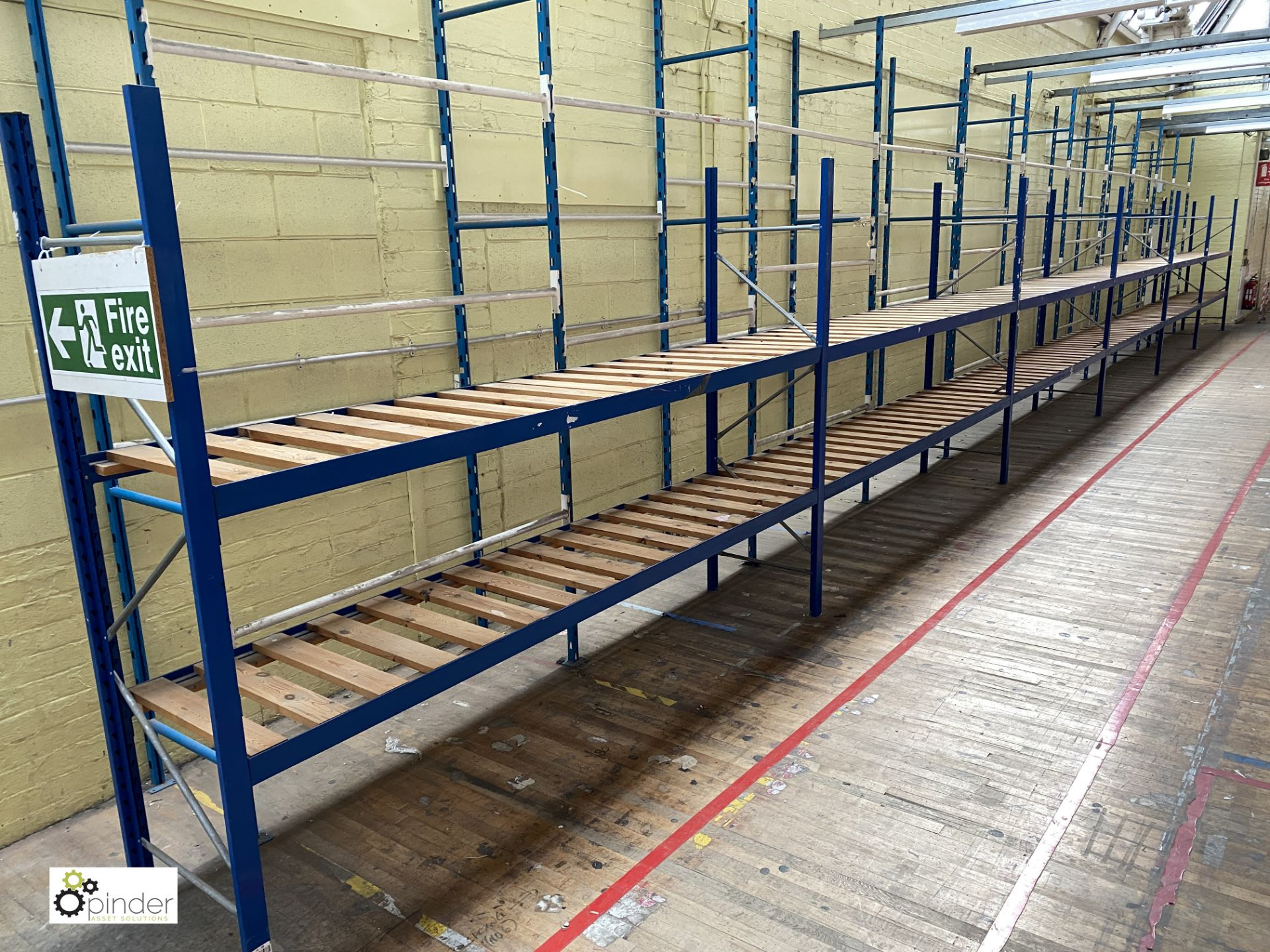 7 bays boltless Racking comprising 9 uprights 2100mm x 620mm, 28 beams 2935mm, 14 timber steel - Image 2 of 5