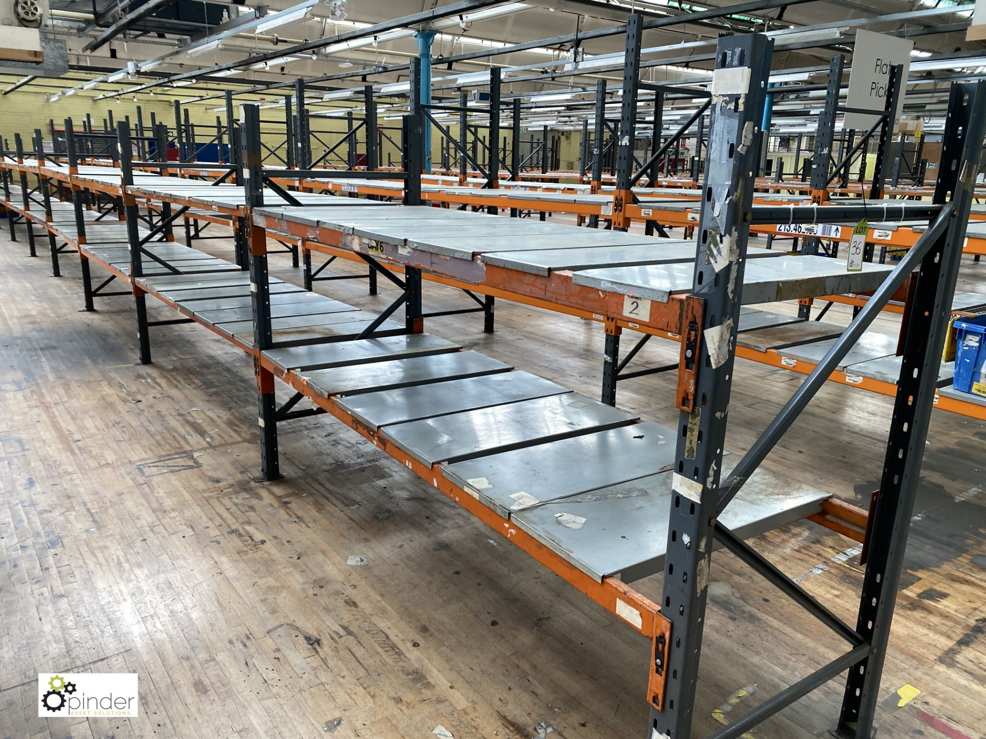 10 bays Dexion Speedlock boltless Racking, comprising 11 uprights 1835mm x 910mm, 40 beams 2450mm, - Image 2 of 5