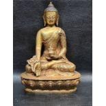 Chinese Tibetan Bronze Gold Gilt Buddha