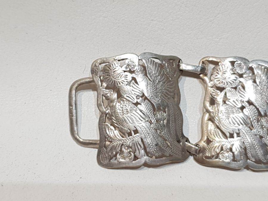 An Solid Silver Indonesian Engraved Belt - Image 7 of 8