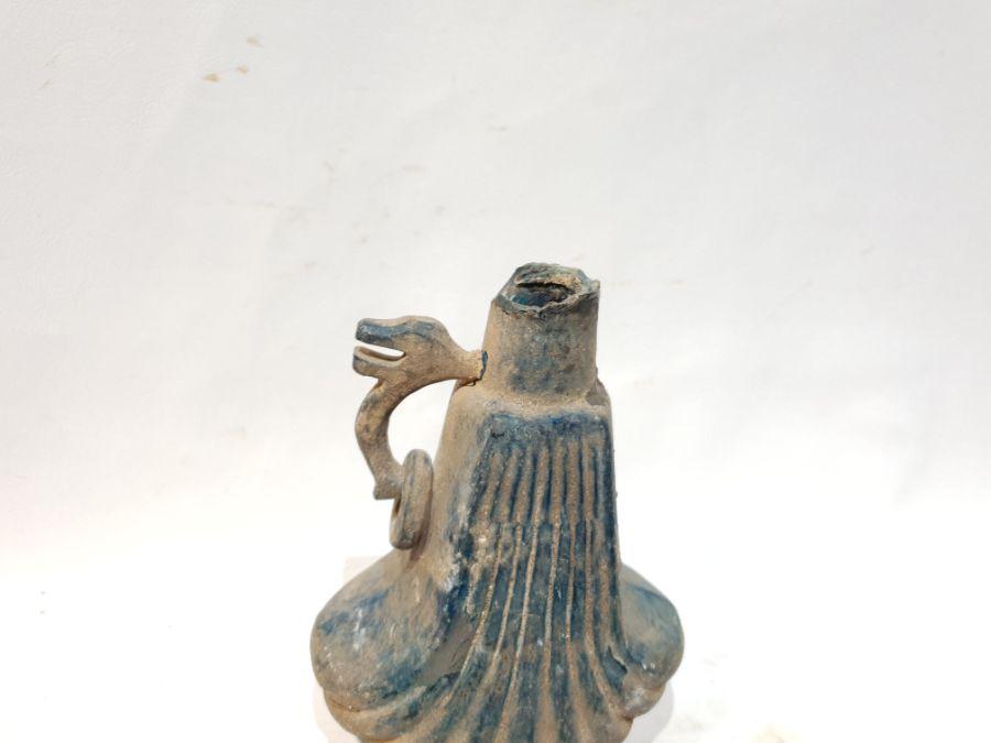 A Blue Glass Jug - Image 5 of 6