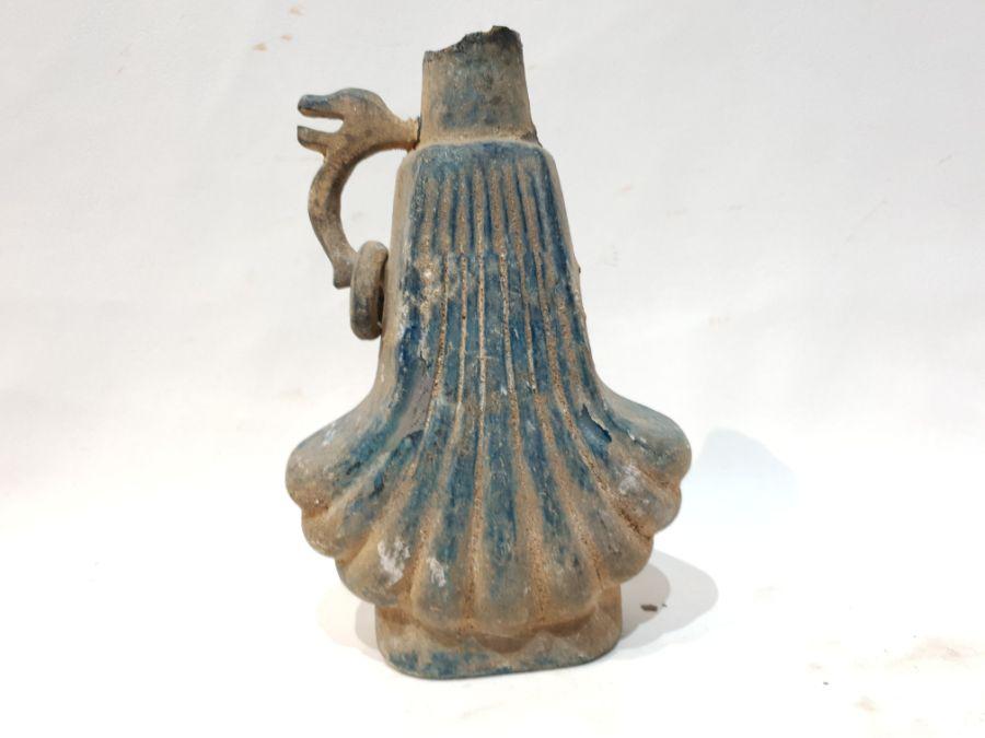 A Blue Glass Jug - Image 3 of 6