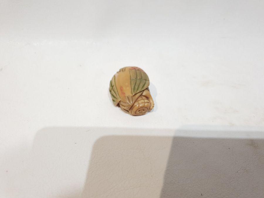 3 Japanese Signed Miniature Okimono Figures - Image 7 of 10