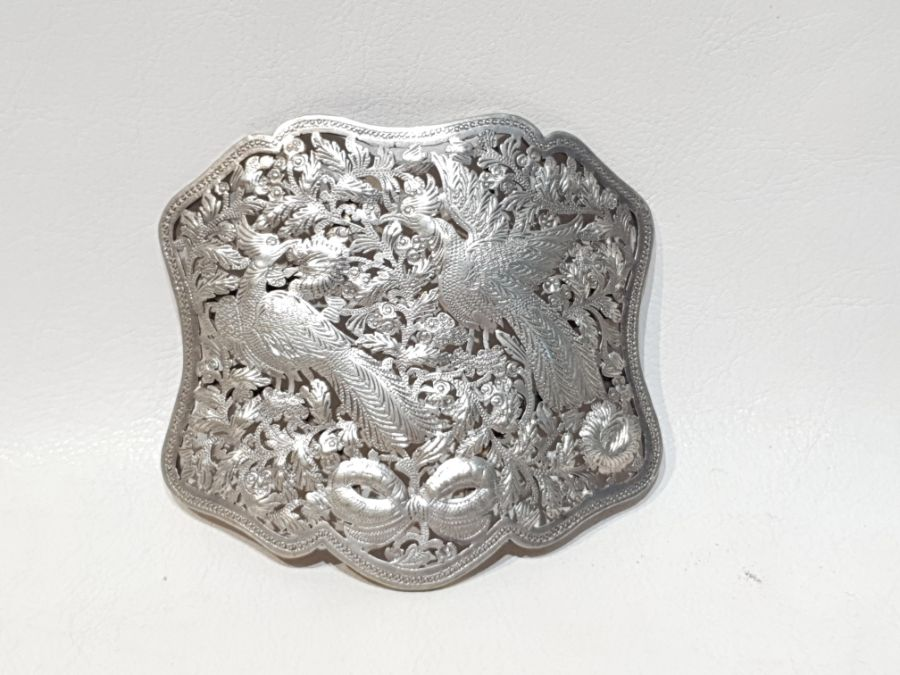 An Solid Silver Indonesian Engraved Belt - Image 2 of 8