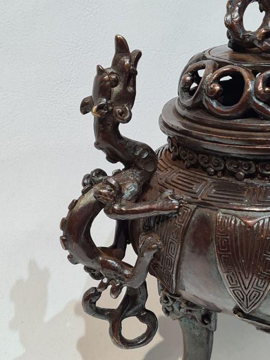 Oriental Bronze Incense Burner - Image 6 of 6