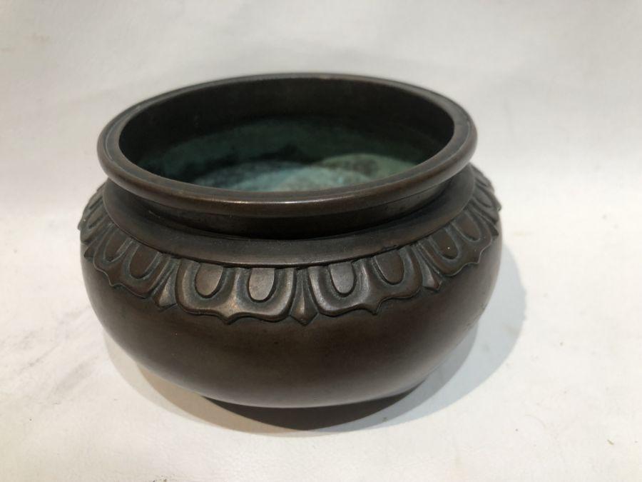 19th Century Chinese Bronze Tripod Incense Burner - Image 5 of 6