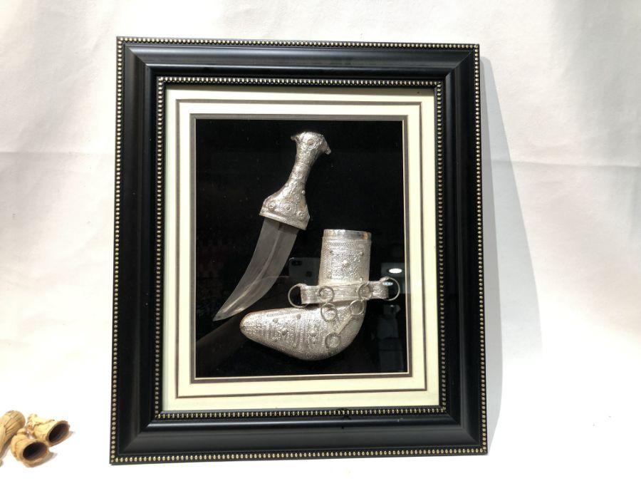 Yemen Original Silver Arab Jambiya Dagger Sword Knife - Image 3 of 3