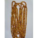 Amber Prayer Beads 119 grams