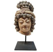 3rd Century Gandhara Stucco Buddha Head