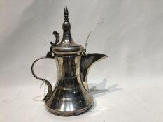 1950's Sterling Silver Arabic Coffee Jug Hallmarked 529 Grams