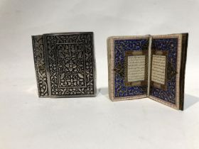 Small Quran Written in Gold, 19/20th Century, with Silver Box