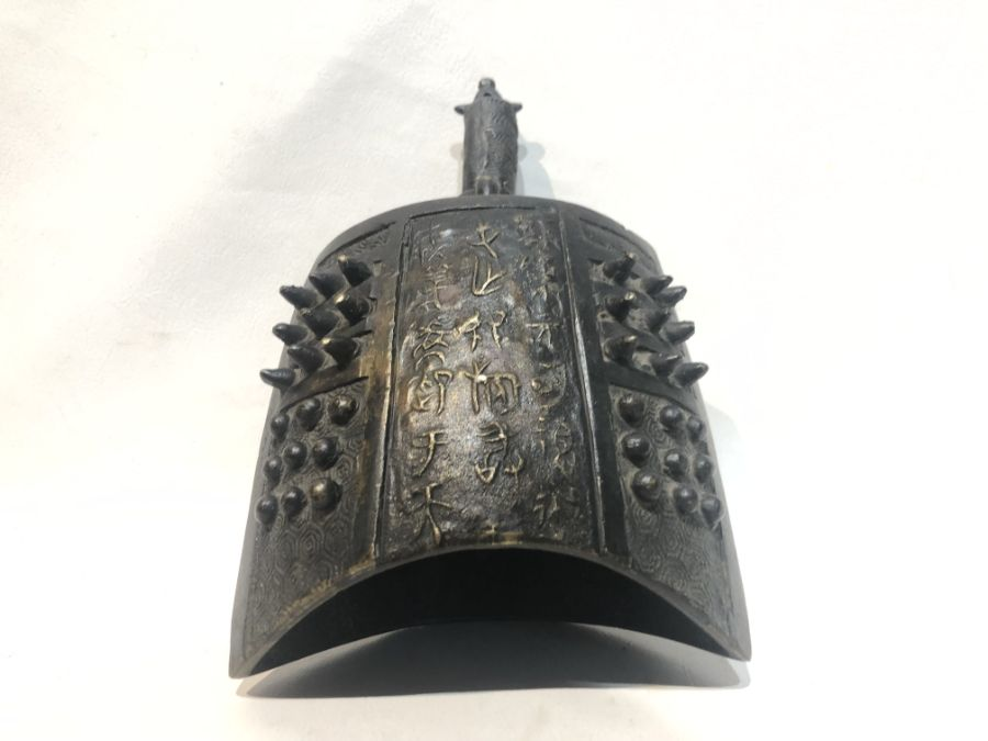16th Century Bronze Chinese Ming Dynasty Bell With Inscriptions - Image 4 of 12