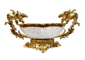 19th Century Baccarat French Crystal Ormolu Gilt Centre Piece Napoleon III Period