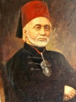 18th/19th Century Ottoman Pasha Oil Painting Signed