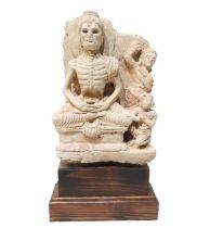 3rd Century Gandhara Stucco Fasting Skeleton Buddha