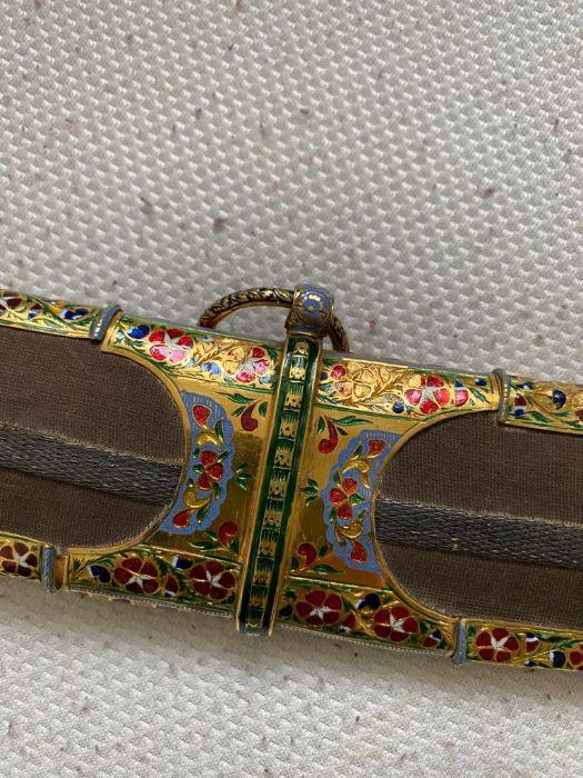 18TH CENTURY GOLD ENAMEL IVORY AND STEEL SHAMSHIR SWORD - Image 13 of 21