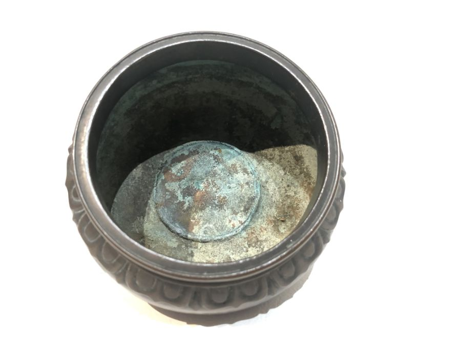 19th Century Chinese Bronze Tripod Incense Burner - Image 4 of 6