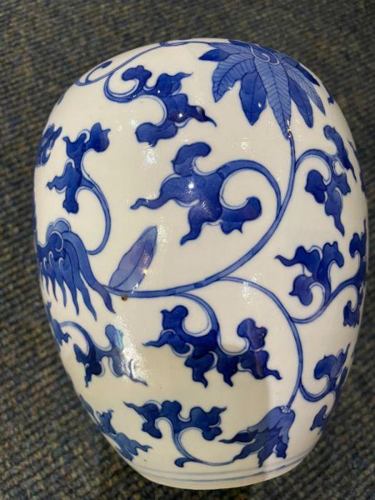 Pair Of Chinese Blue & White Ginger Jars Yongzheng six character mark - Image 9 of 21
