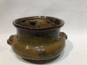 18th/19th Century Chinese Qing Period Shiwan Ware Tripod Incense Burner