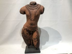 Indian Red Stone Figure