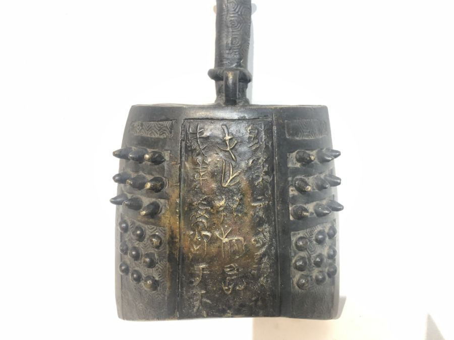 16th Century Bronze Chinese Ming Dynasty Bell With Inscriptions - Image 3 of 12
