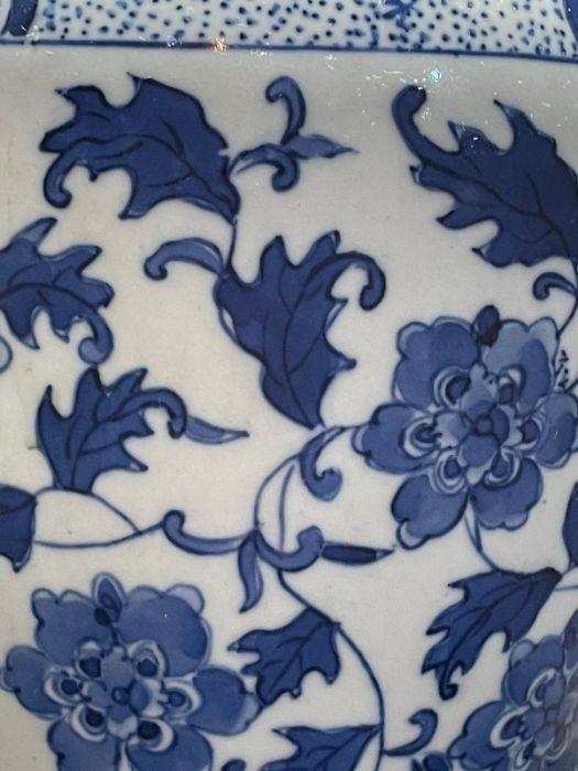 19th/20th Century Chinese Blue & White Vase Lamp - Image 2 of 3