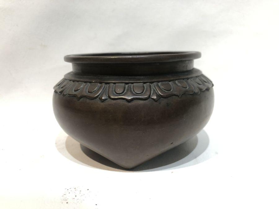 19th Century Chinese Bronze Tripod Incense Burner - Image 6 of 6