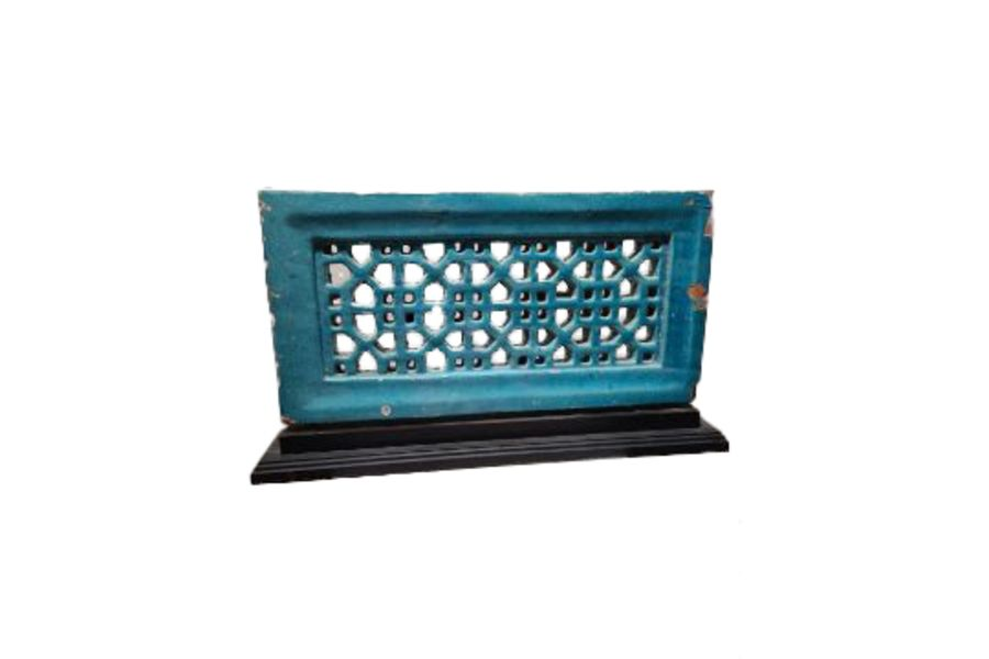 Islamic Turquoise Reticulated Panel