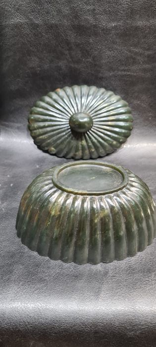 Indian Mughal Spinach Jade Ribbed Bowl - Image 3 of 7