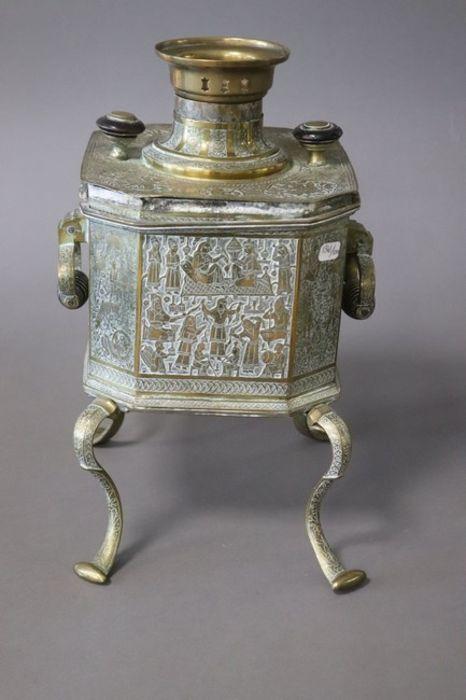 Qajar Tea Fountain Brass cut sides - Image 4 of 6