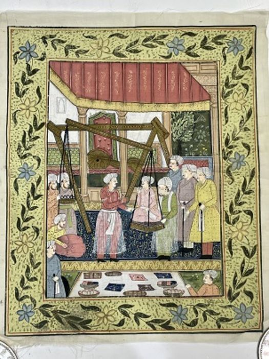18th Century Indian Painting On Canvas - Image 2 of 2