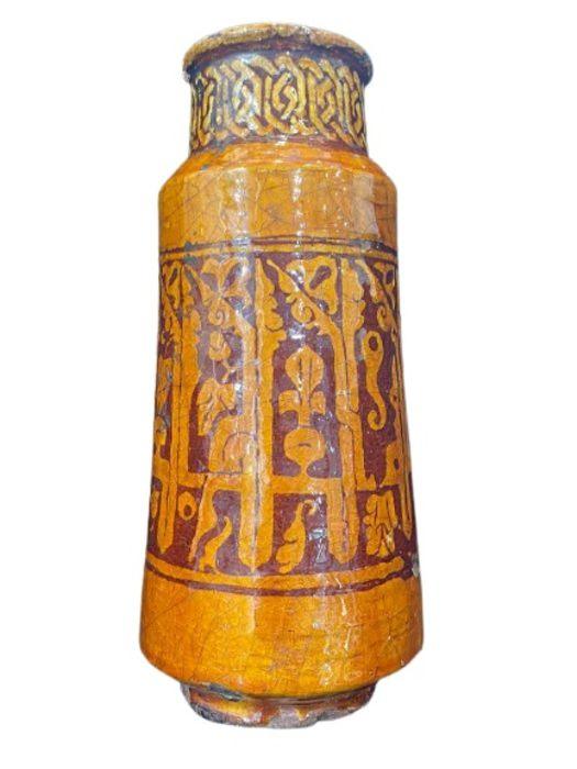 Spanish Albarello Medicine Vase With Kufic Inscriptions